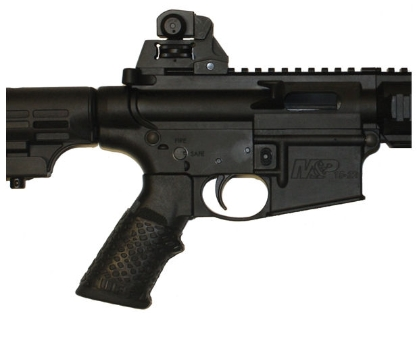 AR15 with TUFF1 Black Boa Gun Grip Cover